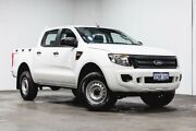 2014 Ford Ranger PX XL Double Cab 4x2 Hi-Rider White 6 Speed Sports Automatic Utility Welshpool Canning Area Preview