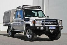 2014 Toyota Landcruiser VDJ79R MY13 GXL Double Cab White 5 Speed Manual Cab Chassis Hillman Rockingham Area Preview