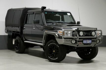 2015 Toyota Landcruiser VDJ79R MY12 Update GXL (4x4) Grey 5 Speed Manual Double Cab Chassis Bentley Canning Area Preview