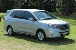2013 Ssangyong Stavic A100 MY13 SPR Fine Silver 5 Speed Sports Automatic Wagon Port Macquarie Port Macquarie City Preview
