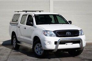 2010 Toyota Hilux GGN25R MY10 SR White 5 Speed Automatic Utility Seaford Frankston Area Preview