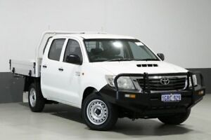 2014 Toyota Hilux KUN16R MY14 SR White 5 Speed Manual Dual Cab Pick-up