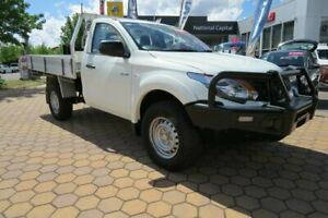 2016 Mitsubishi Triton MQ MY16 Upgrade GLX (4x4) White 6 Speed Manual Cab Chassis