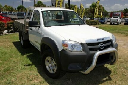 2009 Mazda BT-50 08 Upgrade B3000 DX (4x4) White 5 Speed Manual Cab Chassis