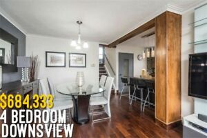 Stunning Renovated 4 Bedroom Downsview Home