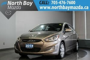 2013 Hyundai Accent with Manual Transmission, Bluetooth, Heated