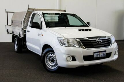 2014 Toyota Hilux KUN16R MY14 SR 4x2 Glacier White 5 Speed Manual Cab Chassis Rockingham Rockingham Area Preview