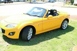 2010 Mazda MX-5 NC30F2 MY09 Roadster Coupe Yellow 6 Speed Manual Hardtop Wilson Canning Area Preview