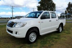 2014 Toyota Hilux KUN26R MY14 SR (4x4) White 5 Speed Automatic Dual Cab Pick-up Werribee Wyndham Area Preview