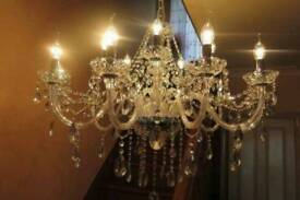 SIMPLY STUNNING 16-BRANCH FRENCH STYLE LEAD CRYSTAL CHANDELIER