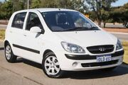 2010 Hyundai Getz TB MY09 SX Noble White 4 Speed Automatic Hatchback Mindarie Wanneroo Area Preview