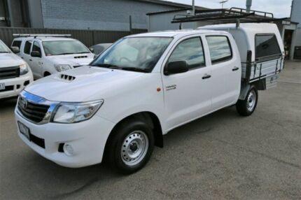 2015 Toyota Hilux KUN16R MY14 SR Double Cab 4x2 White 5 Speed Manual Utility Cheltenham Kingston Area Preview