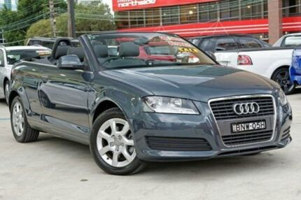 2010 Audi A3 8P MY11 Amethyst Grey 7 Speed Sports Automatic Dual Clutch Convertible Artarmon Willoughby Area Preview