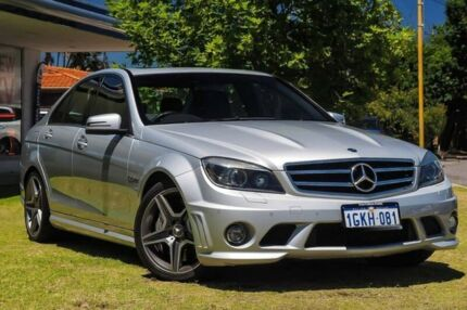 2011 Mercedes-Benz C63 W204 MY11 AMG Silver 7 Speed Sports Automatic Sedan Victoria Park Victoria Park Area Preview
