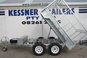 KESSNER 8X5 GALVANISED HYDRAULIC TIPPER TRAILERS CAGE & RAMPS Pooraka Salisbury Area Preview