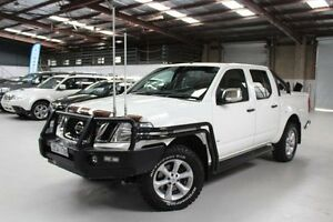 2012 Nissan Navara D40 S5 ST-X White Sports Automatic Utility Knoxfield Knox Area Preview