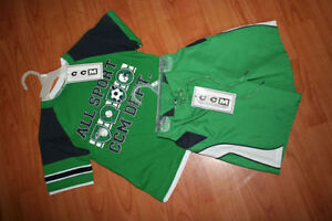 "NEW CCM Authentic Sports Short and ""T"" Set Size 4 London Ontario image 1"