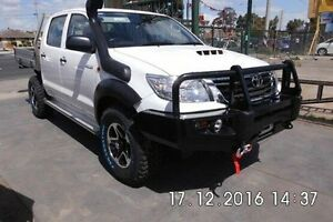 2014 Toyota Hilux KUN26R MY14 SR Double Cab White 5 Speed Automatic Cab Chassis Fawkner Moreland Area Preview