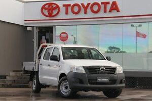 2012 Toyota Hilux TGN16R MY12 Workmate White 4 Speed Automatic Dual Cab Pick-up Old Guildford Fairfield Area Preview