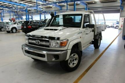 2017 Toyota Landcruiser VDJ79R GXL White 5 Speed Manual Cab Chassis Moonah Glenorchy Area Preview