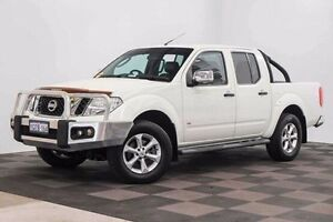 2014 Nissan Navara D40 S5 MY12 ST-X 550 White 7 Speed Sports Automatic Utility Edgewater Joondalup Area Preview