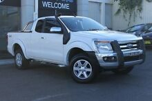 2014 Ford Ranger PX XLT Super Cab White 6 Speed Sports Automatic Utility Wolli Creek Rockdale Area Preview