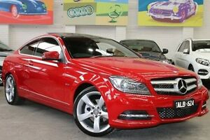 2011 Mercedes-Benz C250 C204 BlueEFFICIENCY 7G-Tronic + Red 7 Speed Sports Automatic Coupe Southbank Melbourne City Preview