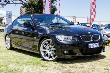 2010 BMW 335i E93 MY09 D-CT Black 7 Speed Sports Automatic Dual Clutch Convertible