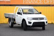 2013 Mitsubishi Triton MN MY13 GLX White 4 Speed Sports Automatic Cab Chassis Heatherton Kingston Area Preview