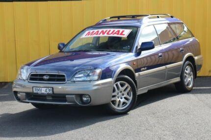 2002 Subaru Outback B3A MY02 D/Range AWD Blue 5 Speed Manual Wagon Heatherton Kingston Area Preview