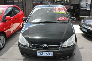2007 Hyundai Getz TB Upgrade 1.6 Black 5 Speed Manual Hatchback Mitchell Gungahlin Area Preview