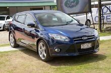 2011 Ford Focus LW Titanium Blue 6 Speed Automatic Hatchback Capalaba West Brisbane South East Preview