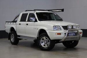 2005 Mitsubishi Triton MK MY05 GLX-R (4x4) White 5 Speed Manual Double Cab Utility Bentley Canning Area Preview