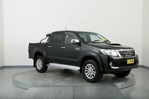 2012 Toyota Hilux KUN26R MY12 SR5 Double Cab Black 4 Speed Automatic Utility Old Guildford Fairfield Area Preview