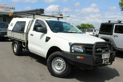 2014 Ford Ranger PX XL White 6 Speed Sports Automatic Cab Chassis Tingalpa Brisbane South East Preview