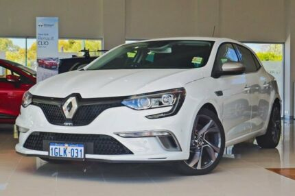 2017 Renault Megane BFB GT EDC White 7 Speed Sports Automatic Dual Clutch Hatchback Osborne Park Stirling Area Preview