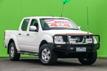 2008 Nissan Navara D40 ST-X White 5 Speed Automatic Utility Ringwood East Maroondah Area Preview