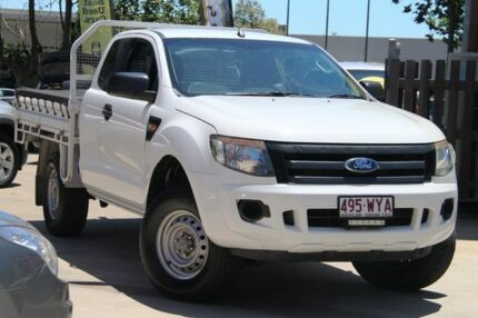 2012 Ford Ranger PX XL 4x2 Hi-Rider White 6 Speed Sports Automatic Cab Chassis East Toowoomba Toowoomba City Preview