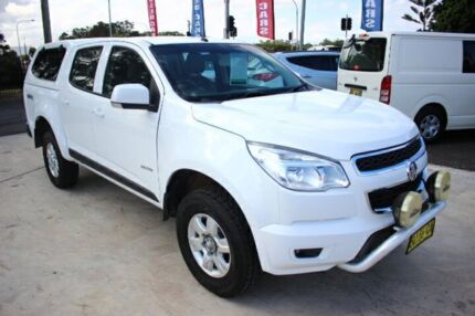 2013 Holden Colorado RG MY13 LT Crew Cab White 5 Speed Manual Utility
