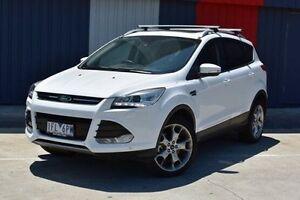 2015 Ford Kuga TF MY15 Titanium AWD White 6 Speed Sports Automatic Wagon Bundoora Banyule Area Preview