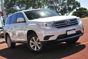 2013 Toyota Kluger GSU40R MY12 KX-R 2WD White 5 Speed Sports Automatic Wagon Westminster Stirling Area Preview