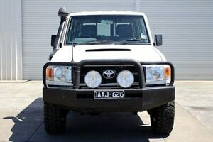 2008 Toyota Landcruiser VDJ76R Workmate White 5 Speed Manual Wagon Seaford Frankston Area Preview