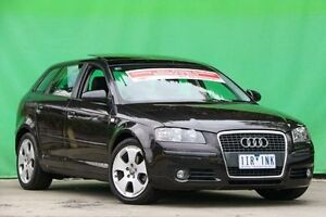 2008 Audi A3 8P MY09 Ambition Sportback S tronic Black 7 Speed Sports Automatic Dual Clutch Ringwood East Maroondah Area Preview