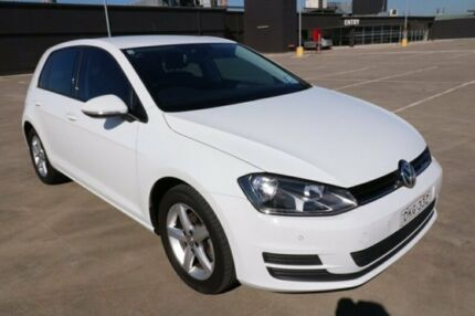 2014 Volkswagen Golf VII MY14 90TSI Comfortline White 6 Speed Manual Hatchback