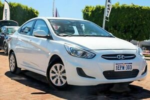2014 Hyundai Accent RB2 Active White 4 Speed Sports Automatic Sedan Embleton Bayswater Area Preview