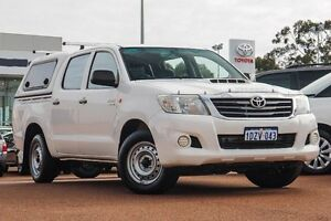 2012 Toyota Hilux KUN16R MY12 SR Double Cab White 5 Speed Manual Utility Westminster Stirling Area Preview