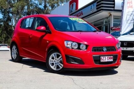 2015 Holden Barina TM MY15 CD Red 6 Speed Automatic Hatchback