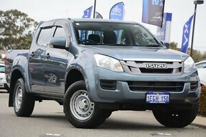 2013 Isuzu D-MAX MY12 SX Crew Cab High Ride Grey 5 Speed Sports Automatic Utility Willagee Melville Area Preview