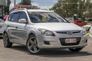 2011 Hyundai i30 FD MY11 SX cw Wagon Silver 4 Speed Automatic Wagon