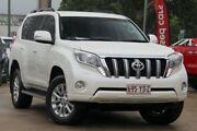 2014 Toyota Landcruiser Prado KDJ150R MY14 VX White 5 Speed Sports Automatic Wagon East Toowoomba Toowoomba City Preview